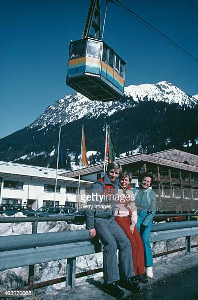 British ice dancers Jayne Torvill and Christopher Dean with their coach Betty Callaway in Oberstdorf Germany during their preparation for the World...