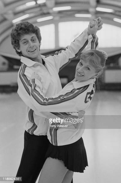 British ice dancers Nicky Slater and Karen Barber UK 14th October 1984