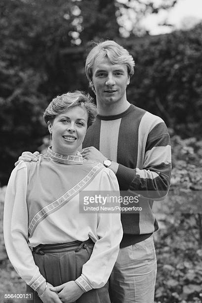 British ice skaters and ice dancers Jayne Torvill and Christopher Dean pictured together in London on 3rd October 1983