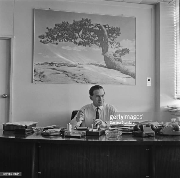 British impresario Louis Benjamin , head of Pye Records, UK, 13th March 1965.