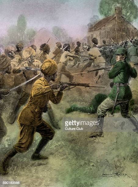British Indian army the 58th Vaughan's Rifles attack German soldiers with bayonets