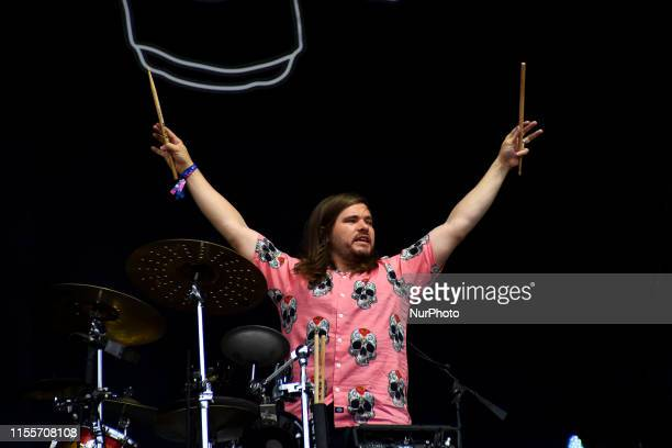 British indie rock band Bastille perform at Citadel Festival at Gunnersbury Park in London on July 14 2019 The band consists of lead vocalist Dan...