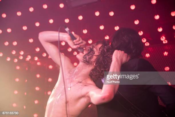 British indie rock band Blinders perform on stage at Camden Assembly London on April 28 2017