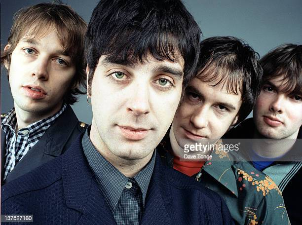 British indie rock band Hurricane No 1 London 1997 Left to right Andy Bell Alex Lowe Will Pepper and Gareth Farmer