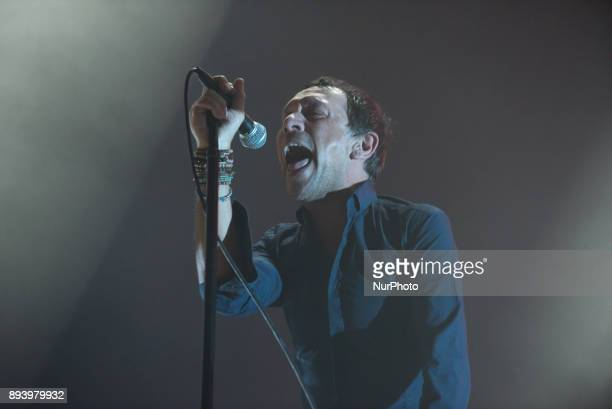 British indie rock band Shed Seven perform on stage at O2 Academy Brixton London on December 16 2017 The band has released a brand new album called...