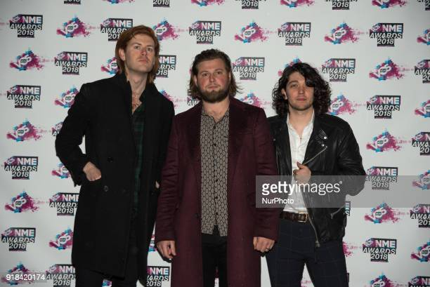 British indie rock band The Amazons attend the VO5 NME Awards held at Brixton Academy London on February 14 2018