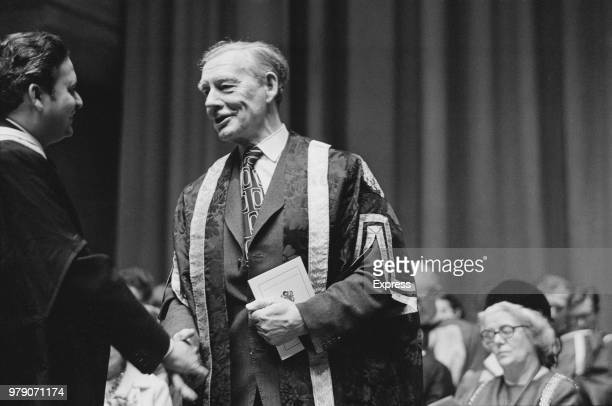 British Industrialist Michael Clapham at the Royal Festival Hall London UK 27th February 1974
