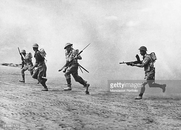 British Infantry Patrol following the retreating German forces. El Alamein, November 1942