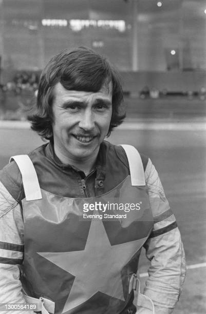 British international speedway driver Trevor Hedge, UK, 19th March 1973.