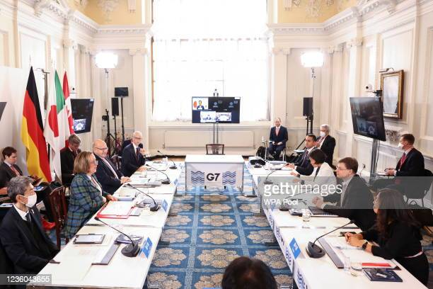 British International Trade Secretary Anne-Marie Trevelyan, U.S. Trade Representative Katherine Tai, Japan's Head of delegation of the Ministry of...