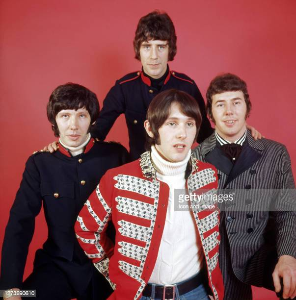 British invasion beat group The Tremeloes including Alan Blakley Dave Munden Len Hawkes and Rick Westwood in London England February 1967