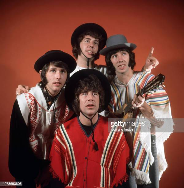 British invasion beat group The Tremeloes including Dave Munden Rick Westwood Alan Blakley and Len Hawkes in London England February 1967