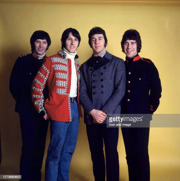 British invasion beat group The Tremeloes including Rick Westwood Len Hawkes Dave Munden and Alan Blakley in London England February 1967