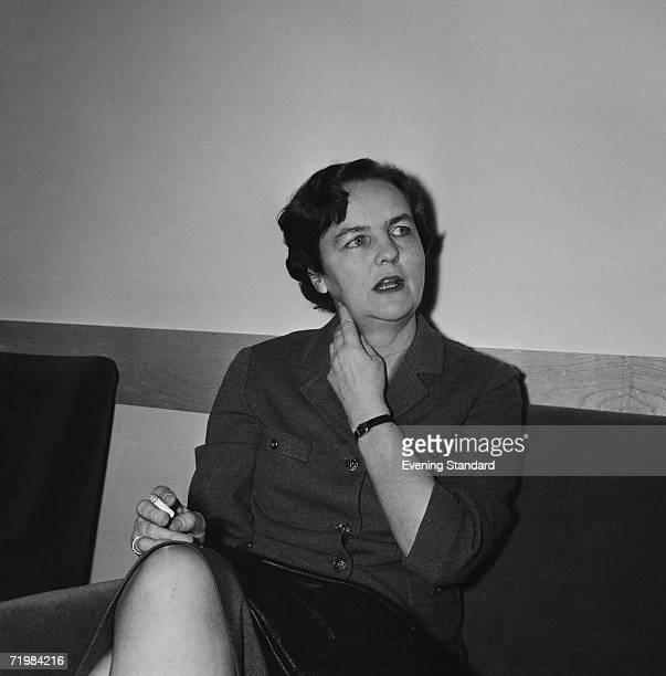 British investigative journalist and writer Jessica Mitford , June 1964.