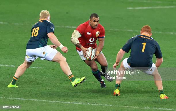 British & Irish Lions player Kyle Sinckler in action during the match between South Africa A and the British and Irish Lions at Cape Town Stadium on...
