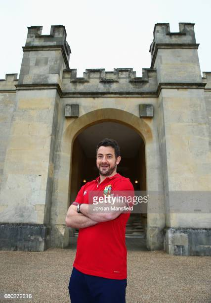 British & Irish Lions scrum half Greig Laidlaw poses after a British and Irish Lions press conference at London Syon Park Hotel on May 8, 2017 in...