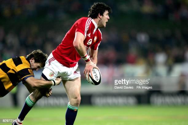British Irish Lions' Shane Horgan in acion against Taranaki