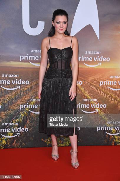 """British Isa Briones attends the """"Star Trek: Picard"""" fan screening at Zoo Palast on January 17, 2020 in Berlin, Germany."""