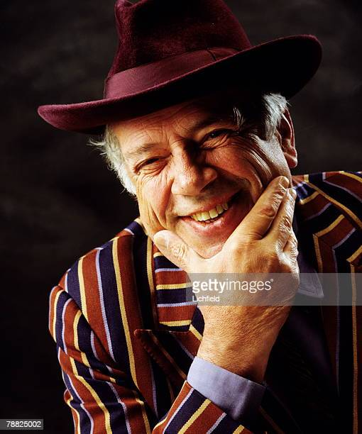 British jazz and blues singer film and television critic and art history lecturer George Melly photographed in the Studio on 15th April 1992