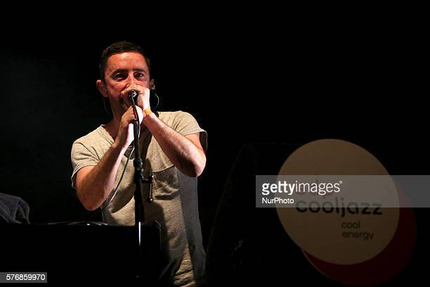British jazz band The Cinematic Orchestra lead by Jason Swinscoe performs at the EDP Cool Jazz music festival in Oeiras, Portugal, on July 17, 2016.