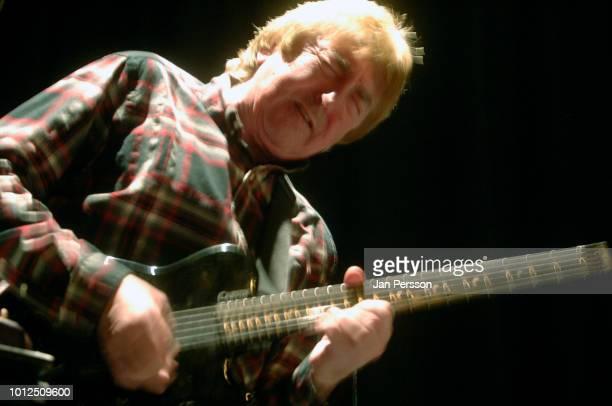 British jazz guitarist and composer Allan Holdsworth in concert at Copenhagen Jazzhus Denmark December 16 2012