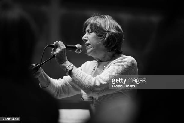 British jazz singer Norma Winstone during the sound check for her 75th Birthday Gala at Cadogan Hall London 16th November 2016 She will be performing...