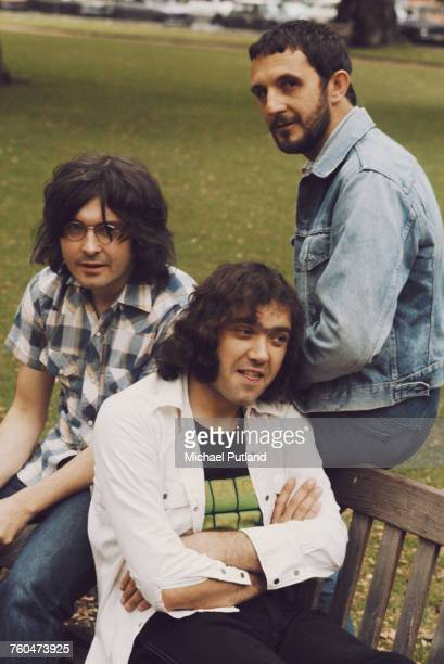 British jazz trio Back Door 1973 Left to right saxophonist Ron Aspery drummer Tony Hicks and bassist Colin Hodgkinson
