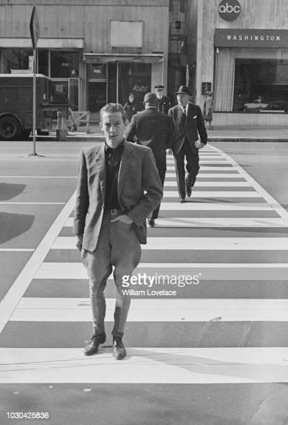 British jockey Lester Piggott walking in Washington US 17th November 1964