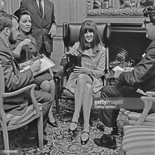 British journalist and broadcaster Cathy McGowan, presenter of the music television show 'Ready Steady Go!', UK, 14th September 1965.