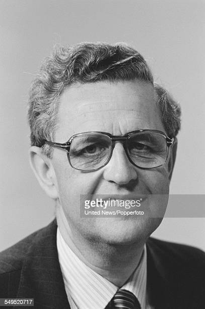 British journalist and broadcaster John Cole a member of the BBC's general election team pictured at BBC Television Centre in London on 31st May 1983