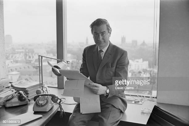 British journalist and ITN newsreader Alastair Burnet London 24th April 1970