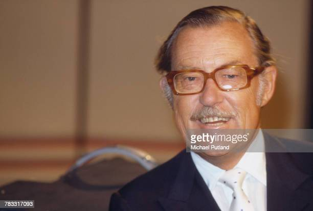 British journalist and television presenter Alan Whicker pictured in 1982