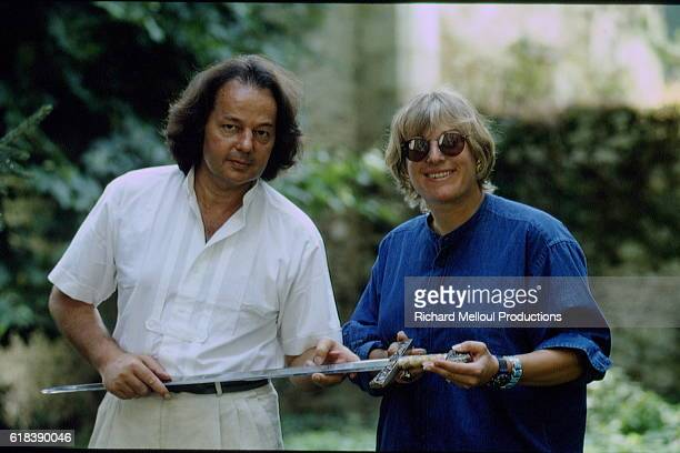 British journalist Carol Thatcher and French journalist and writer Gonzague Saint Bris in Touraine