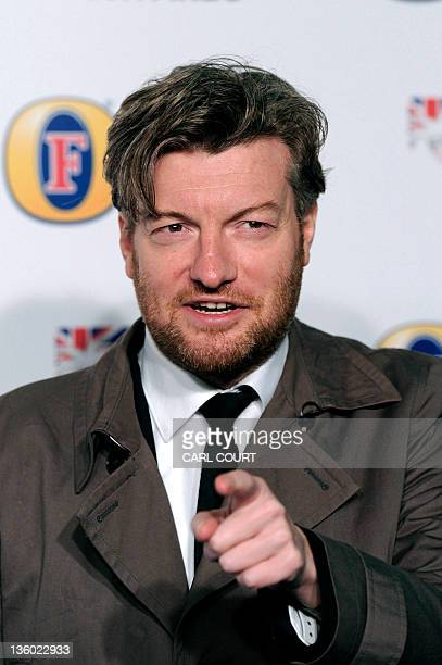 British journalist, comic writer and broadcaster, Charlie Brooker, attends the British Comedy Awards in London on December 16, 2011. AFP PHOTO / CARL...