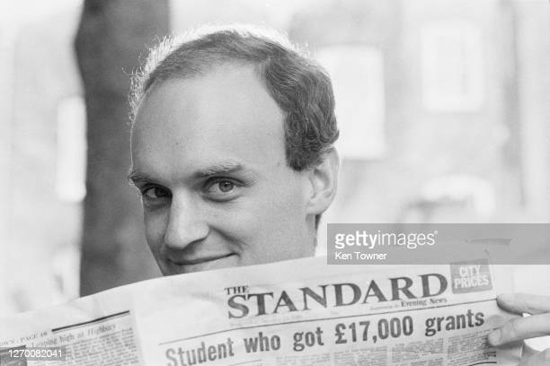 British journalist Nicholas Coleridge, a columnist for 'The Standard', UK, 17th February 1985. He later became chairman of the Victoria and Albert...
