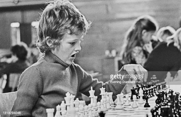 British junior chess player Julian Hodgson, UK, 26th November 1973.