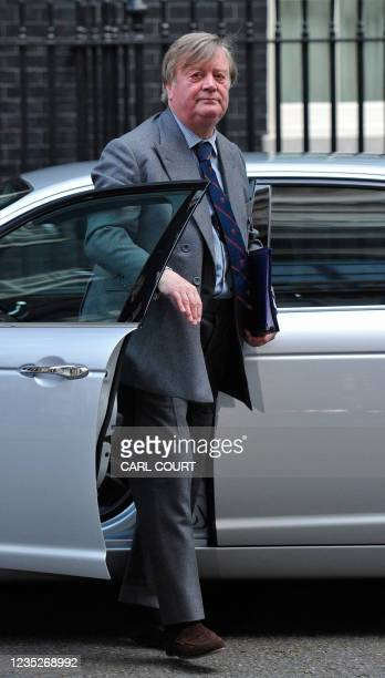 British Justice Secretary, Ken Clarke, arrives to attend a cabinet meeting, at 10 Downing Street, in central London, on October 18, 2010. The...
