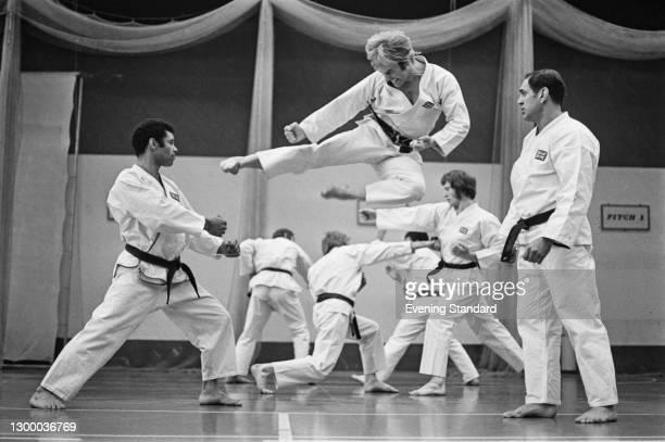 British karate expert David 'Ticky' Donovan coaches the British karate team, UK, 17th April 1972.