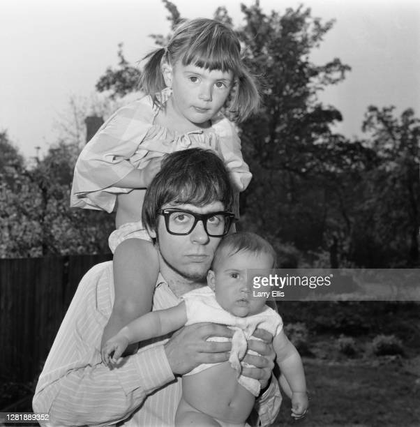 British keyboard player Manfred Mann at home with his daughters UK 2nd May 1966