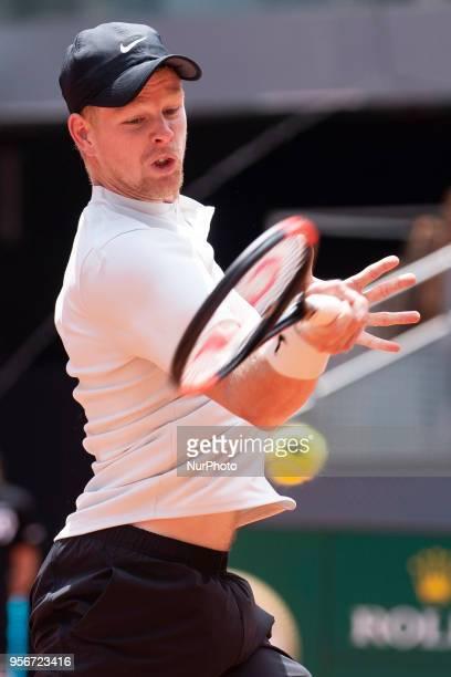 British Kyle Edmund during Mutua Madrid Open 2018 at Caja Magica in Madrid Spain May 09 2018