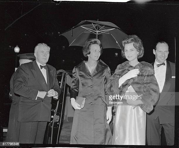 British Labor Party leader Harold Wilson who is here to explain some key points of Labor policy to the top US Officials arrives with his party to...