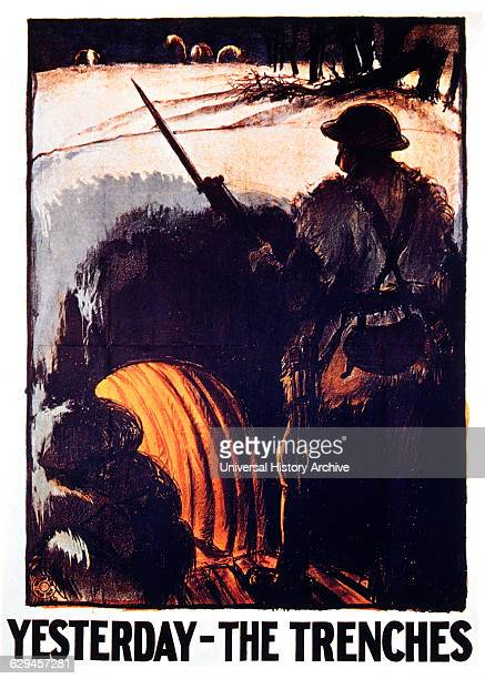 British Labor Party Poster 'Yesterday the Trenches' 1923