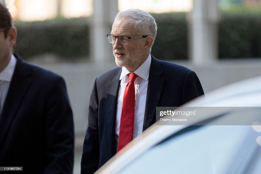 BEL: Jeremy Corbyn Meet With Michel Barnier In Brussels