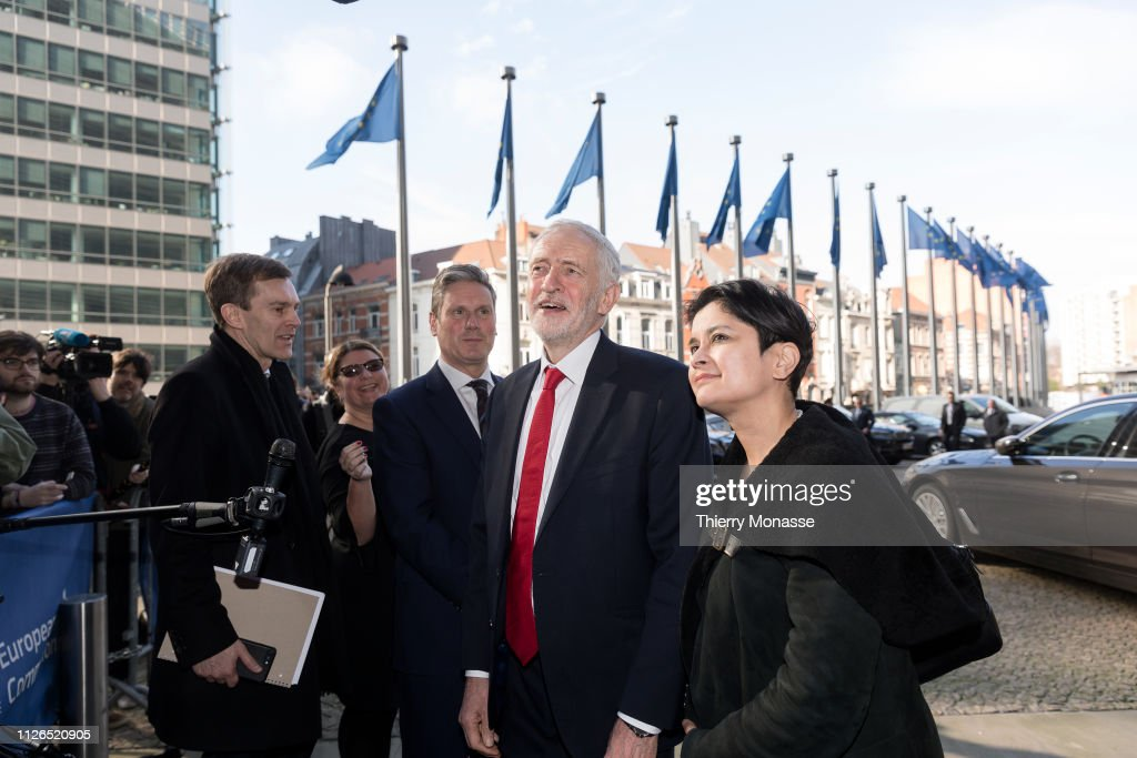 BEL: Jeremy Corbyn And Labour's Brexit Team Meet With Michel Barnier