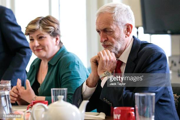 British Labour Party Leader Jeremy Corbyn and Shadow Foreign Secretary Emily Thornberry meet with Prime Minister of Iceland Katrin Jakobsdottir in...