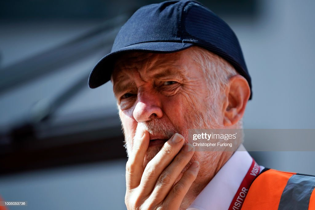"Jeremy Corbyn Drives A Train At Bombardier To Highlight Labour's ""Build It In Britain"" Campaign"