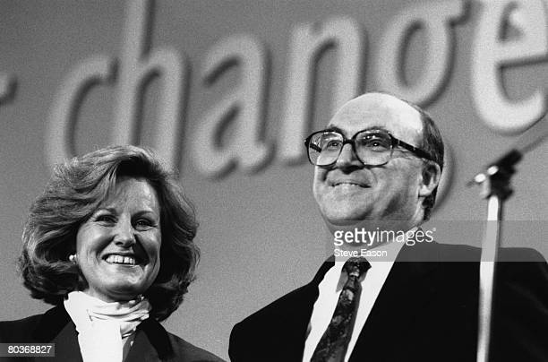 British Labour party leader John Smith and his wife Elizabeth at the Labour Party Conference, 1992.