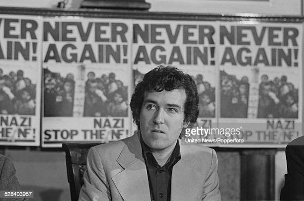 British Labour Party member and founder of the AntiNazi League Peter Hain pictured at a press conference in London on 11th November 1977