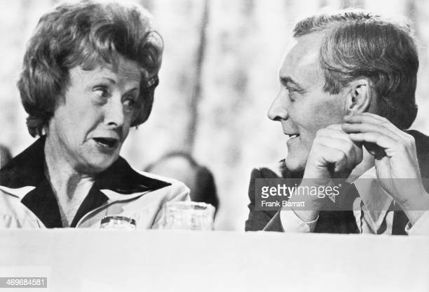 British Labour Party MP Barbara Castle with Secretary of State for Energy Tony Benn at the Labour Party conference in Blackpool Lancashire 27th...