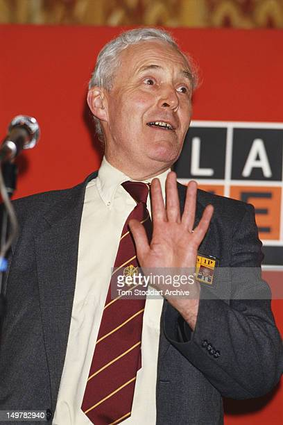 British Labour Party MP for Chesterfield Tony Benn speaking at the party conference Blackpool Lancashire 30th September 1986